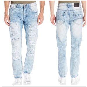 Men's SouthPole Distressed Whitewash Jeans 34/32